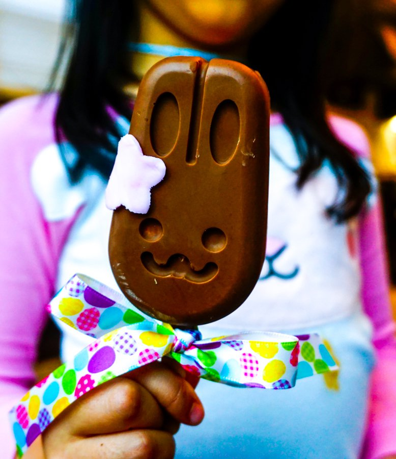 Chocolate Peanut Butter Bunny Pops