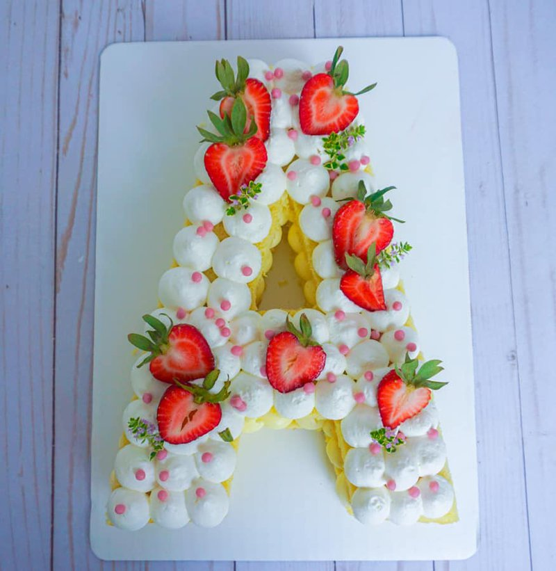 Letter A cake