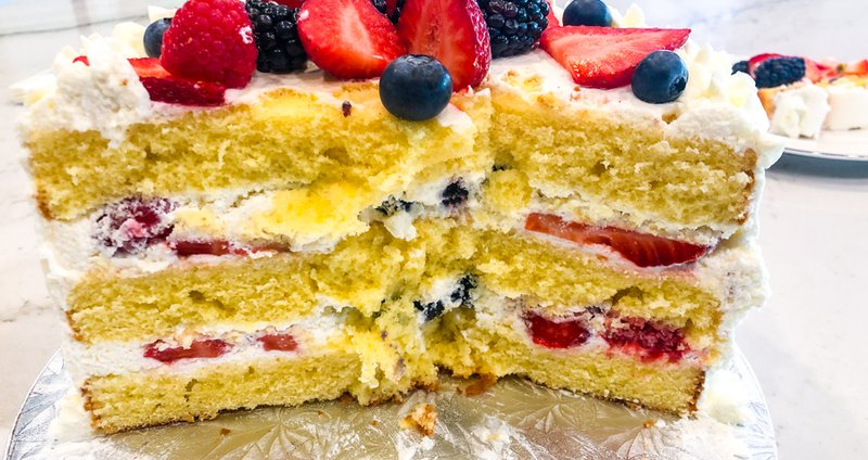 Berry Chantilly Cake interior