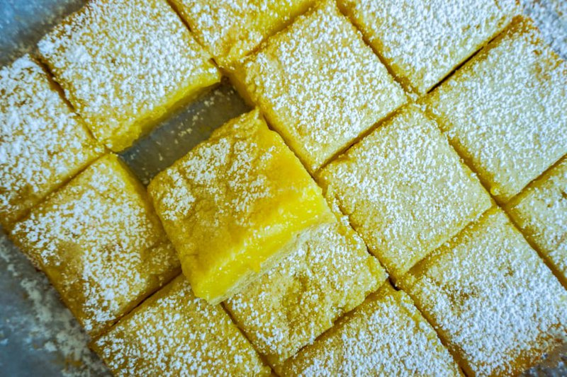 Lemon Mochi Bars